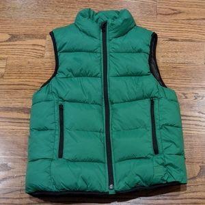 Gap kids green puffy vest NWT